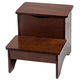 Wooden Step Stool with Storage by OakRidgeTM