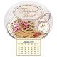 Mini Magnetic Calendar Vintage Teacup