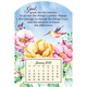 Mini Magnetic Calendar Serenity Prayer