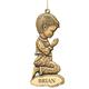Personalized Bronze Boy Ornament