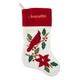 Personalized Cardinal Stocking