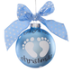 Personalized Baby's First Christmas Glass Ball Ornament
