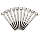Silver Solar Light Stakes with White Lights Set of 10