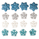 Glitter Snowflake Ornaments, Set of 16