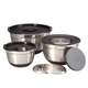 Stainless Steel Bowl, Grater & Lid 9 Piece Prep Set