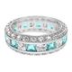 CZ Eternity Sterling Silver Ring