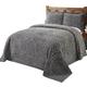 Rio Chenille Bedspread - Gray