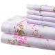 Hotel 5th Ave 90gsm Microfiber Sheet Set-Pink Lavender Flora