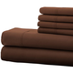 Hotel 5th Ave 4pc Microfiber Sheet Set - Chocolate