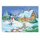 Snowman Cottage Christmas Card - Set Of 20