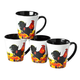 12 oz Rooster Mugs Set of 4