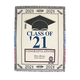 Personalized 2021 Graduation Afghan