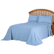 Margaret Matelasse Bedspread/Sham Queen Lt Blue by OakRidge