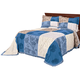 Patchwork Bedspread/Sham King Blue by OakRidge