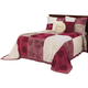 Patchwork Bedspread/Sham King Burgundy by OakRidge