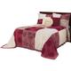 Patchwork Bedspread/Sham King Burgundy by OakRidge
