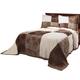 Patchwork Bedspread/Sham Twin Chocolate by OakRidge
