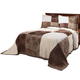 Patchwork Bedspread/Sham King Chocolate by OakRidge