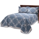 Sophie Tufted Quilt/Sham King Blue by OakRidge