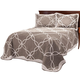 Sophie Tufted Quilt/Sham Full/Queen Taupe by OakRidge