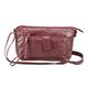 Patch Leather Crossbody Handbag and Wristlet Set