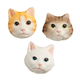 Cat Face Magnets Set/3