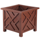 Brown Chippendale Planter