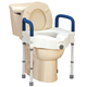 Bariatric Raised Toilet Seat with Arms XL
