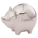 Personalized Silver Plated Piggy Bank