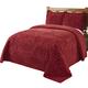 Rio Chenille Bedspread - Burgundy