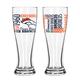 NFL Set/2 Pilsner Glasses
