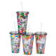Peanuts Tumbler with Straw Set of 4