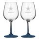 NFL Set/2 Etched Wine Glasses