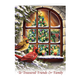 Personalized Treasured Friends Christmas Card Set of 20 Card Only Personalization