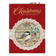 Christmas Chickadee Christmas Card Set of 20 Card and Envelope Personalization