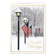 Patriotic Lamppost Christmas Card Set of 20 Card and Envelope Personalization