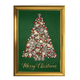 Glittering Tree Christmas Card Set of 20 Card Only Personalization