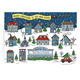 Your Town Christmas Card Set of 20 Family Card and Envelope Personalization