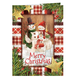 Calico Snowman Christmas Card Set of 20 Card and Envelope Personalization