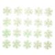 Glow-in-the-Dark Snowflakes, Set of 20