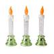 LED Glitter Candles, Set of 3
