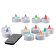 Tea Lights with Remote Control Set of 12   Color Changing