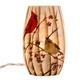 Cardinals Lighted Glass Hurricane
