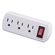 Triple Plug Adapter with Switch