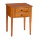 2-Drawer Shaker End Table by OakRidge™