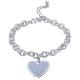 Diamond Dust Heart Charm Bracelet FREE GIFT