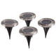 Color Changing In-Ground Solar Lights, Set of 4