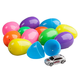 Easter Eggs Filled with Toy Vehicles, Set of 24