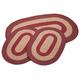 Burgundy 3-Piece Two-Tone Braided Rug Set by OakRidge™