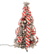 2' Snow Frosted Candy Cane Pull Up Tree by Holiday PeakTM